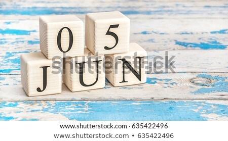 Cubes 5th June Stock photo © Oakozhan