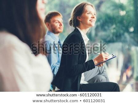 widoku · różnorodny · ludzi · biznesu · konferencji · rejestracja - zdjęcia stock © andreypopov