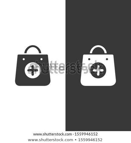 Shopping pharmacy bag icon. Isolated image. Vector illustration Stock photo © Imaagio