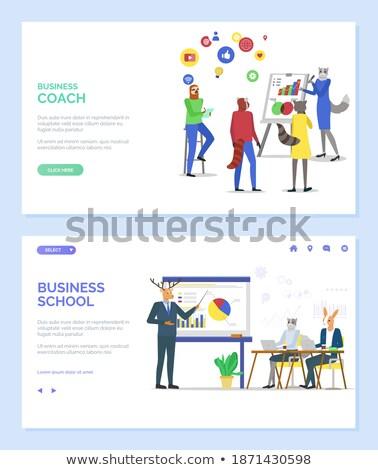 Business school spreker dieren vector Stockfoto © robuart