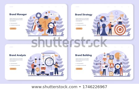 Branded competition concept landing page Stock photo © RAStudio
