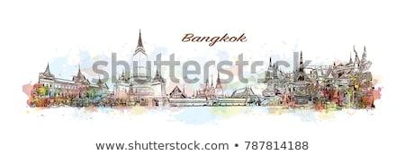 Soyut Bangkok ufuk çizgisi renk turizm Stok fotoğraf © ShustrikS