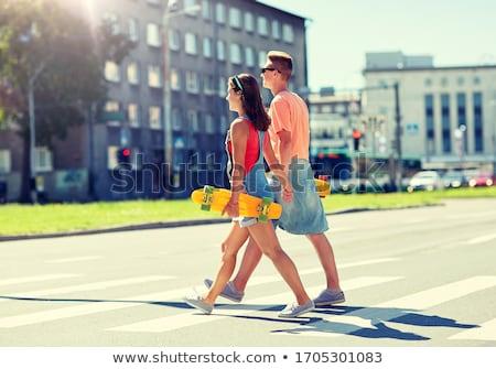 Para miasta przejście dla pieszych lata wakacje Zdjęcia stock © dolgachov