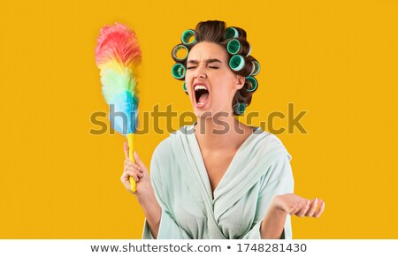 woman holding a feather stock photo © photography33