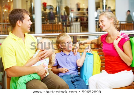 Boy After A Shopping Spree Stock photo © stuartmiles