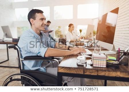 身体障害 作業 ビジネス コンピュータ 女性 ノートパソコン ストックフォト © photography33