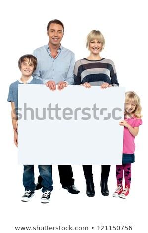 altos · dama · anuncio · espacio · blanco - foto stock © stockyimages