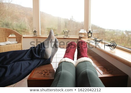 senior relaxing on the veranda Stock photo © photography33