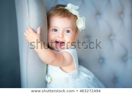 portrait of a cute baby girl blonde Stock photo © OleksandrO