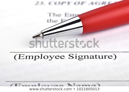 employment contract  Stock photo © hyrons