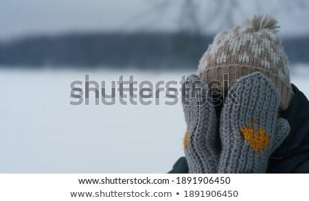 小 · 道路 · 冬 · 空 · 風景 - ストックフォト © lianem