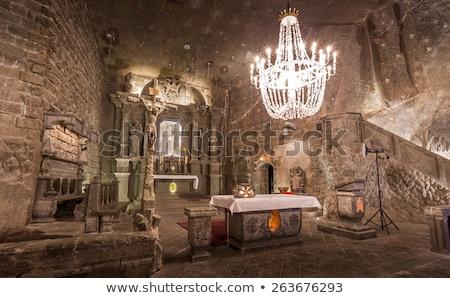 túnel · sal · mina · vista · iluminado · pared - foto stock © grafvision