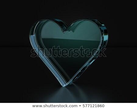 glass with black hearts Stock photo © shawlinmohd