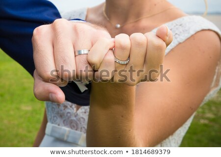 fiance with the bride, shows the rings Stock photo © Paha_L