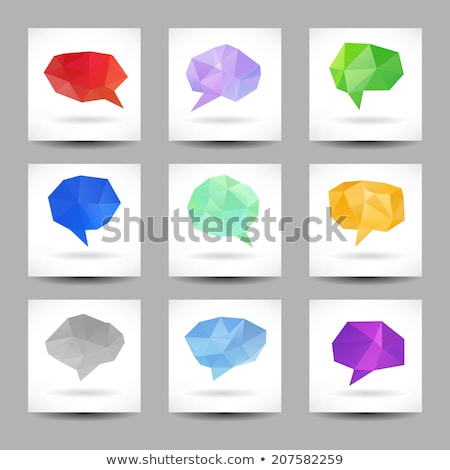 Low Poly Rounded Square Banners Set Stock photo © Voysla