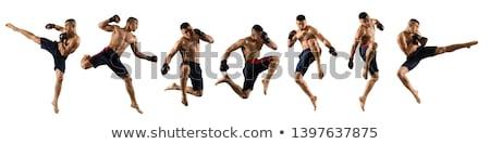 Flying kick  Stock photo © pressmaster