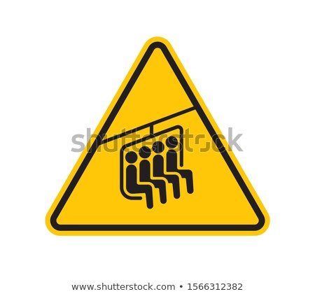 Yellow sign of ropeway stock photo © kb-photodesign
