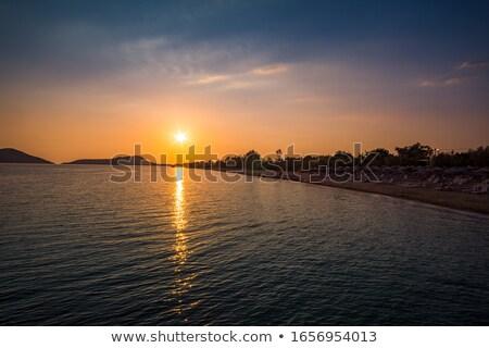 Sunset at Gialova lagoon, Messinia, Greece Stock photo © ankarb