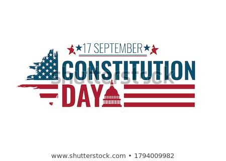 text happy constitution day and american flag stock photo © nito