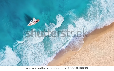 boats in caribbean beach turquoise sea stock photo © lunamarina