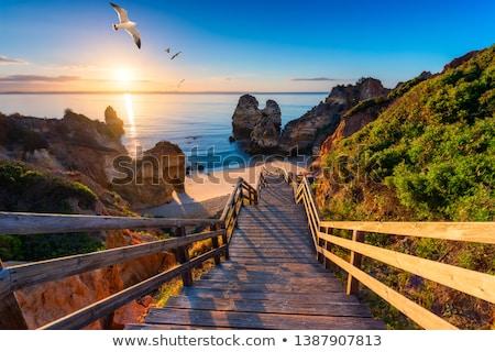 美しい · 崖 · ポルトガル · 海岸 · 風景 · ビーチ - ストックフォト © homydesign