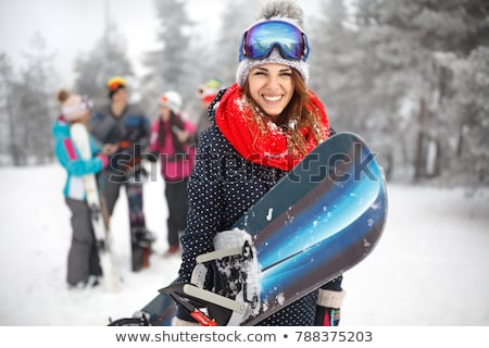 Sportswoman with snowboard Stock photo © Anna_Om