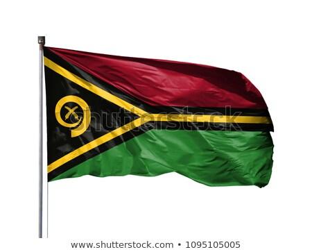 Vanuatu bandeira isolado branco tridimensional tornar Foto stock © daboost