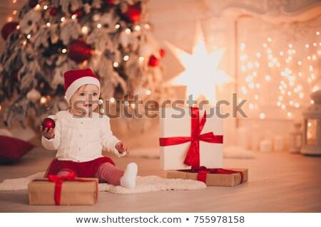 サンタクロース · 帽子 · 着用 · 白 · 孤立した - ストックフォト © dolgachov