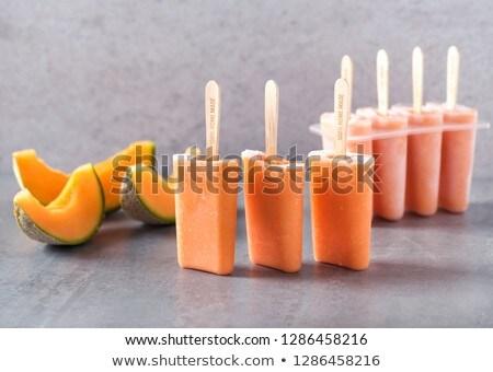 Finom házi készítésű nyalóka különböző ízek mangó Stock fotó © Melnyk
