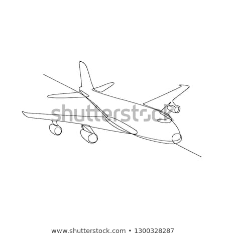 Jumbo Jet Plane Airliner Continuous Line Stock photo © patrimonio