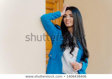 Przepiękny kobieta interesu długo luksusowy ciemne włosy formalny Zdjęcia stock © vkstudio