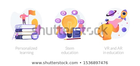 Stengel onderwijs vector metafoor model leren Stockfoto © RAStudio