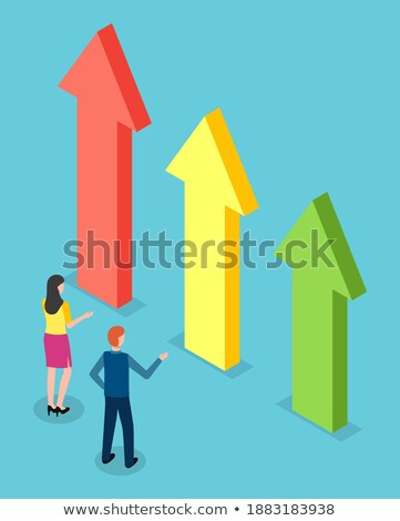 Businessman Looking at Infochart Rising Arrow Stock photo © robuart