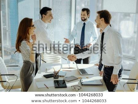 Partnerschaft up Business Metapher zwei Partner Stock foto © Lightsource