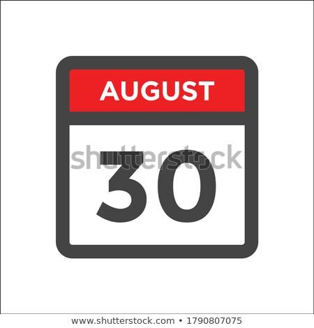 Eenvoudige zwarte kalender icon 30 augustus Stockfoto © evgeny89