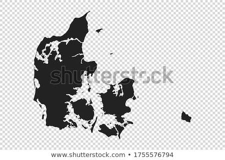 Denemarken land silhouet vlag geïsoleerd witte Stockfoto © evgeny89