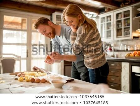 Making Pasta - Egg and Flour Stock photo © SimpleFoto