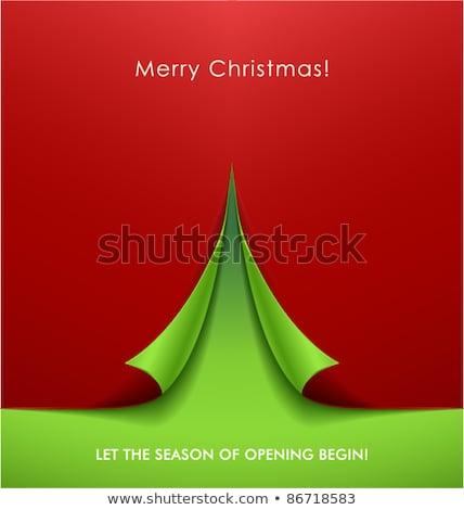 Vector Green New Year card 2012 Stock photo © orson