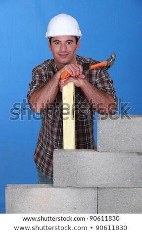 Oluşturucu çekiç kereste duvar iş inşaat Stok fotoğraf © photography33