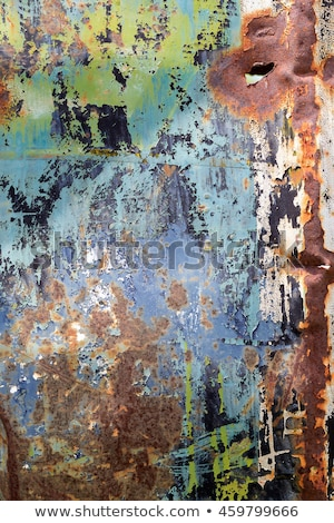 rouillée · surface · métallique · peinture · texture · orange - photo stock © sirylok