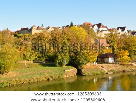 city view of Marbach Stock photo © prill