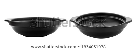 Black casserole dish isolated Stock photo © IngaNielsen