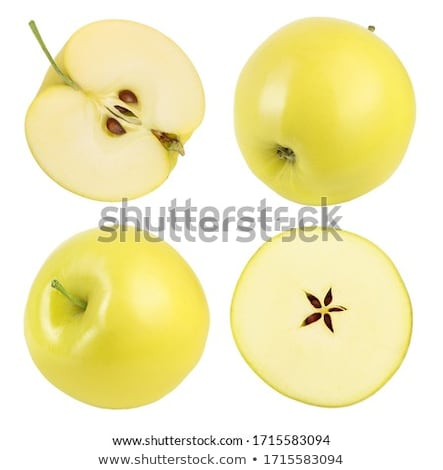 Two slices of a fresh yellow apple stock photo © boroda