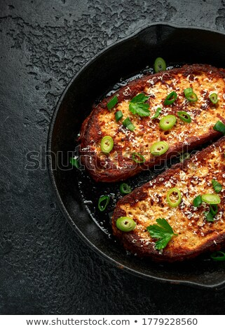 Ham sandwich with parsley and spring onion  Stock photo © digitalr
