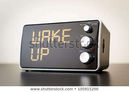 Black clock radio Stock photo © njnightsky