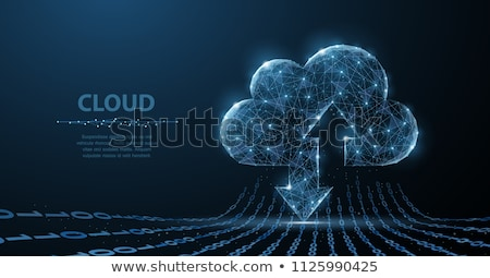 çokgen bulut minimalist örnek eps10 vektör Stok fotoğraf © unkreatives