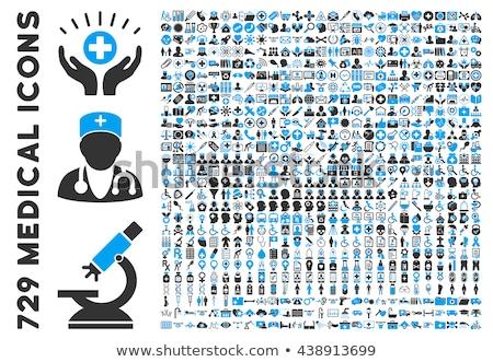 flat style medical icons set Stock photo © TRIKONA