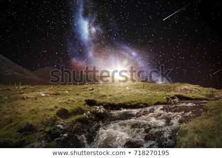 表示 フィールド 山 1泊 風景 ストックフォト © backyardproductions