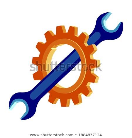 Gear фиолетовый вектора икона дизайна цифровой Сток-фото © rizwanali3d