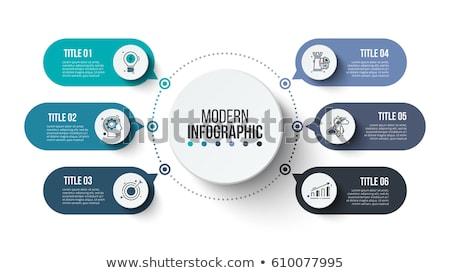 Infographics bar grafikler iş soyut model Stok fotoğraf © bluering